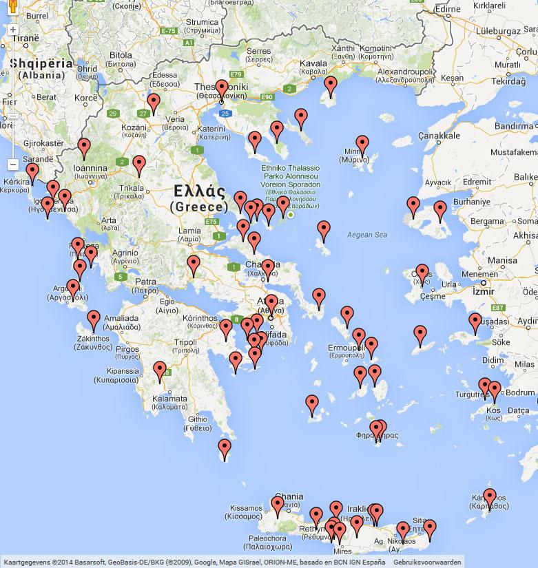 Interactieve Landkaart Met Films Over Griekenland